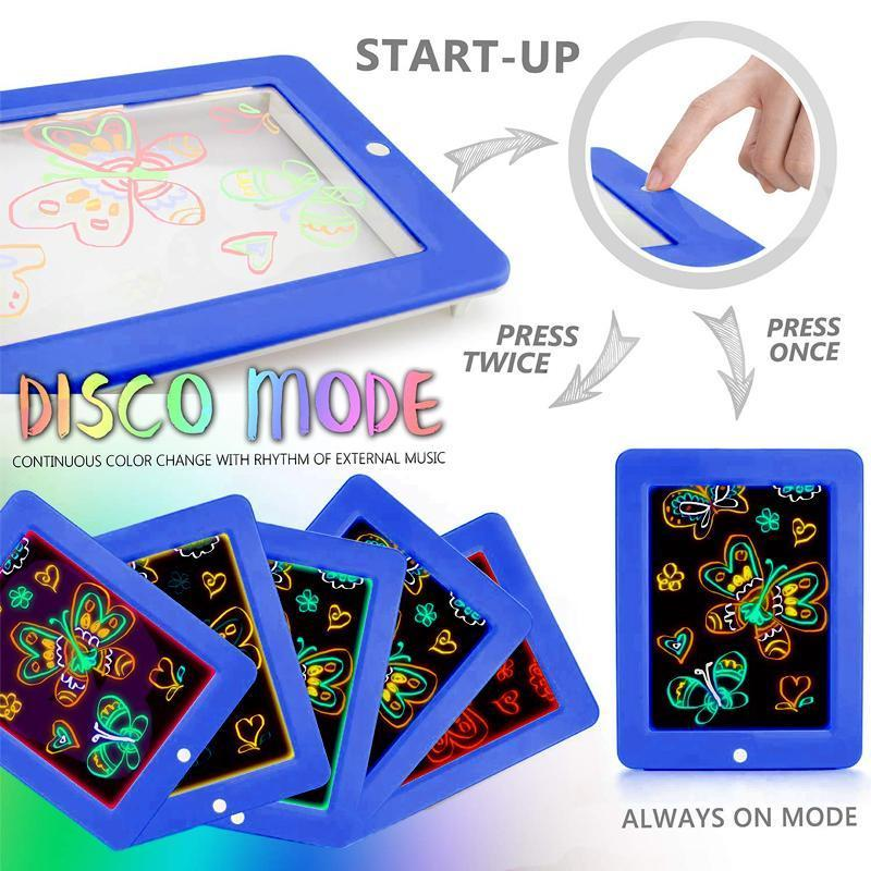 3D LED Luminous Magic Drawing Pad Toys