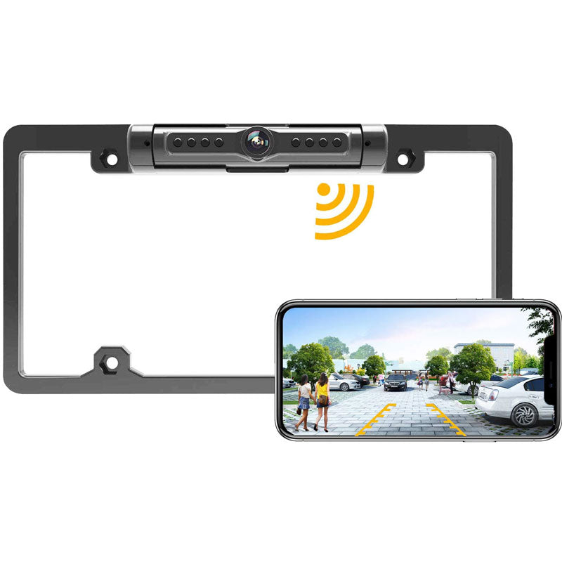 License Plate IR Car Rear View Backup Camera