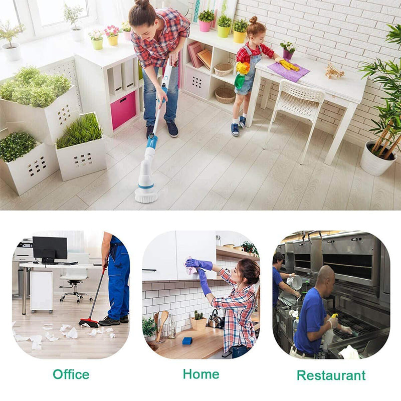 Wireless rechargeable electric cleaning brush