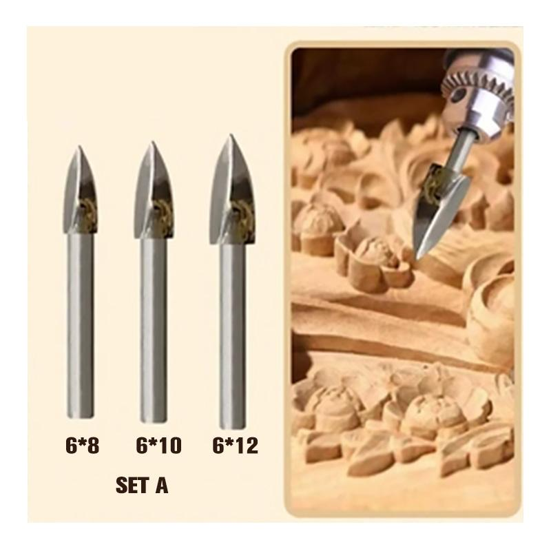 Rolling™ Wood Carving & Engraving Drill Bit Set