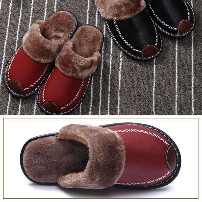 The Indoor Thick-Soled Warm Home Lovers Shoes Slippers