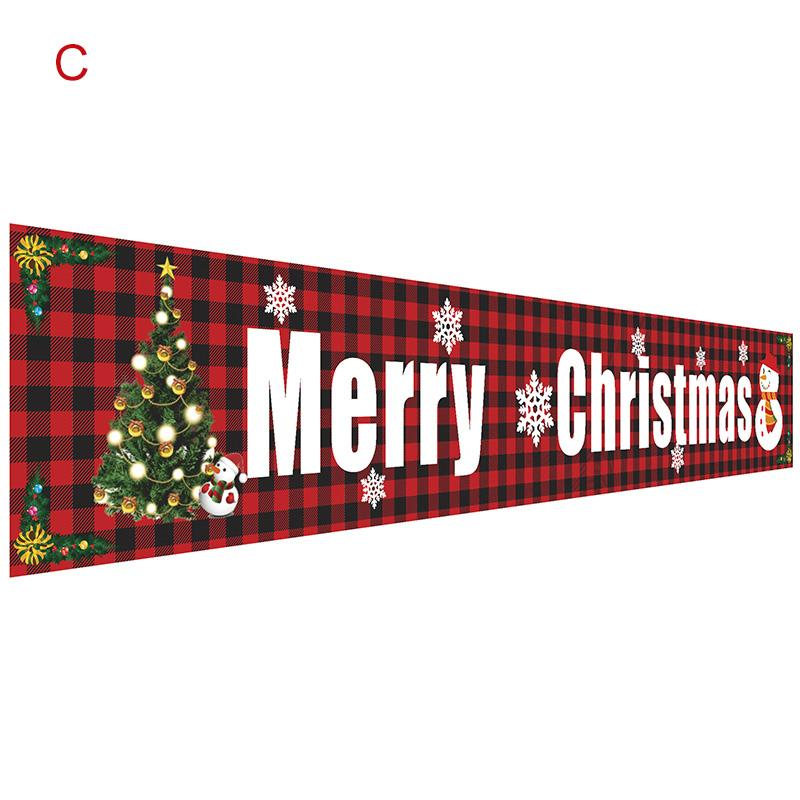 Christmas Outdoor Banner Flag Pulling