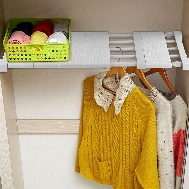 Retractable Wardrobe Storage Layered Partition
