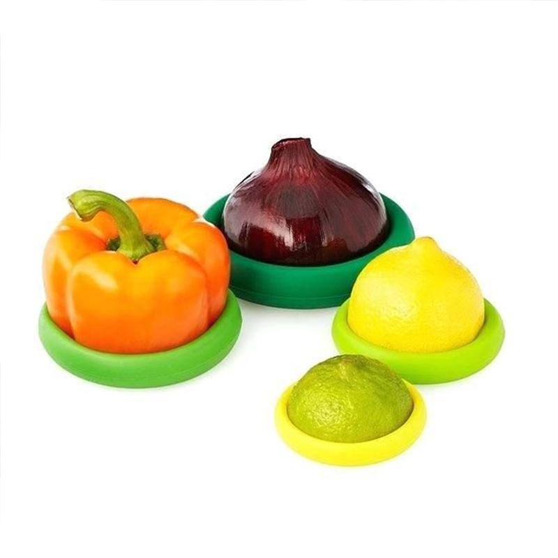4 Silicone Food Preservation Cover Set