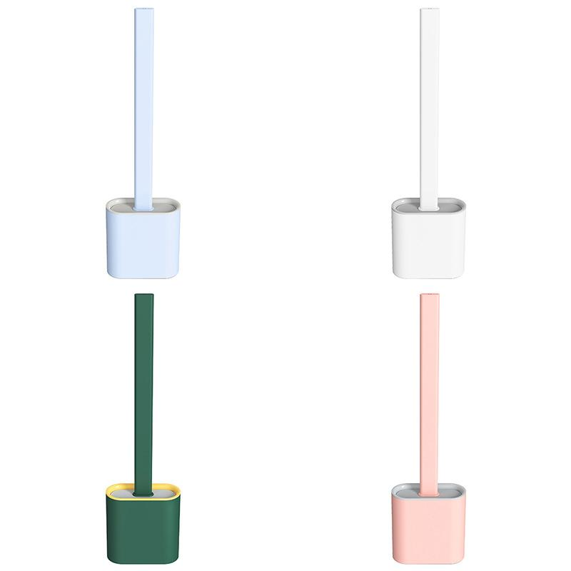 Silicone Toilet Brush and Holder Set