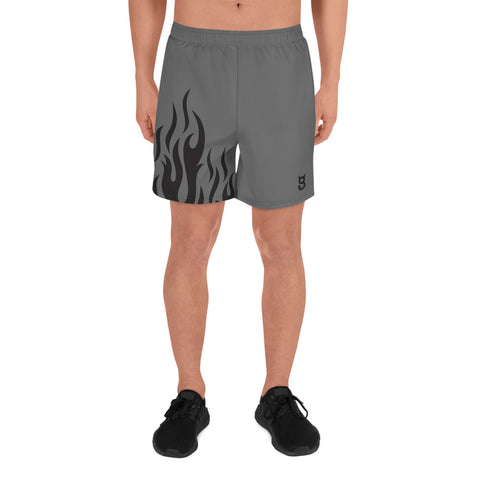Men's Athletic Gray Flame Shorts