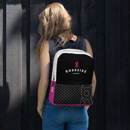 Goodside Curve Logo Daypack - pink accents