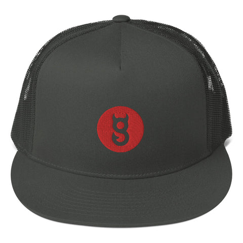 Mesh Back Snapback red dot