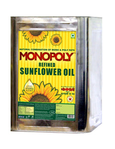 Sunflower Oil 15 Litres Tin