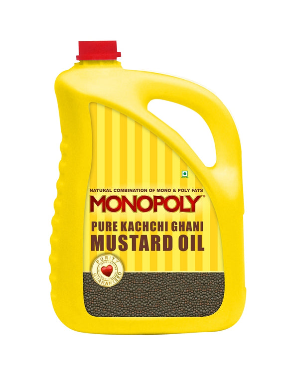 Kachchi Ghani Mustard Oil 5 Litres Can