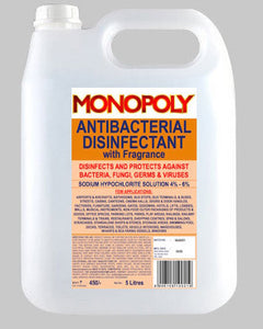 Monopoly Anti Bacterial Disinfectant 5 Litres Can