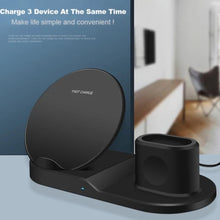 Load image into Gallery viewer, Qi Fast Wireless Charger 3 in 1 Stand For Apple Accessories
