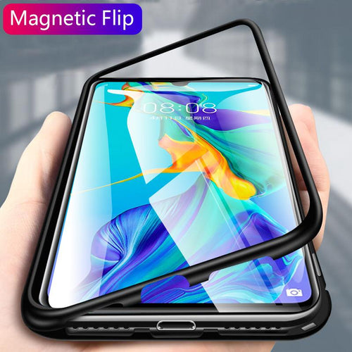 OnePlus 7T Pro Cover Electronic Auto-Fit Magnetic Glass Case