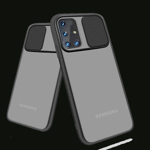 Galaxy A71 Camera Lens Slide Protection Matte Case