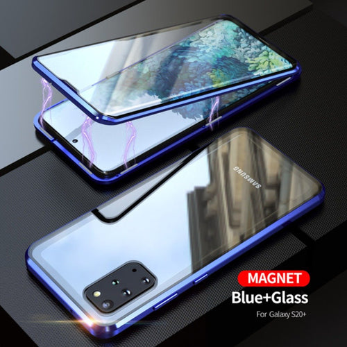 Galaxy S20 Plus Electronic Auto-Fit (Front+ Back) Glass Magnetic Case