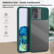 Load image into Gallery viewer, Galaxy A71 Camera Lens Slide Protection Matte Case