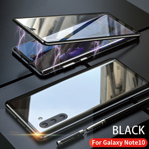 Galaxy Note 10 Electronic Auto-Fit (Front+ Back) Glass Magnetic Case