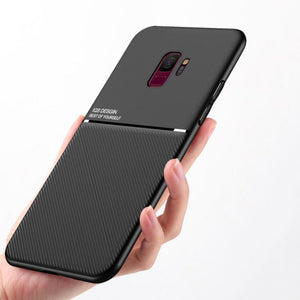 Galaxy S9 Plus Carbon Fiber Twill Pattern Soft TPU Case
