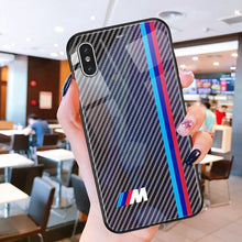 Load image into Gallery viewer, OnePlus 6T 3D Carbon Fiber Pattern Glass Case