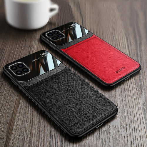Galaxy Note Series Sleek Slim Leather Glass Case