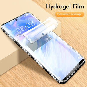 Galaxy S20 (2 in 1 Combo) New Shockproof Clear Acrylic Back Case + Hydrogel Film