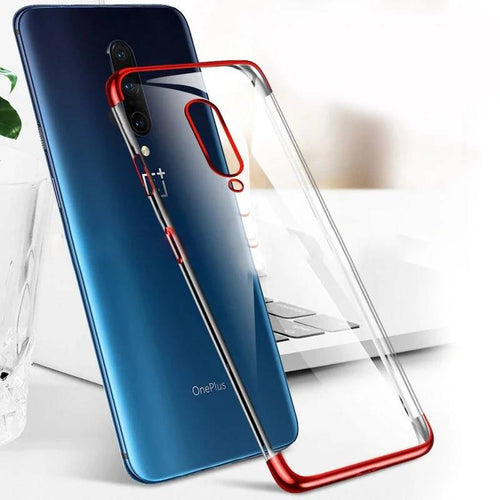 OnePlus 7 Pro Cover Electroplating Silicone Transparent Glitter Case