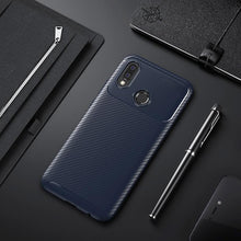 Load image into Gallery viewer, Galaxy A20 Frosted Carbon Fiber Shockproof Soft Case