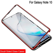 Load image into Gallery viewer, Galaxy Note 10 Electronic Auto-Fit (Front+ Back) Glass Magnetic Case