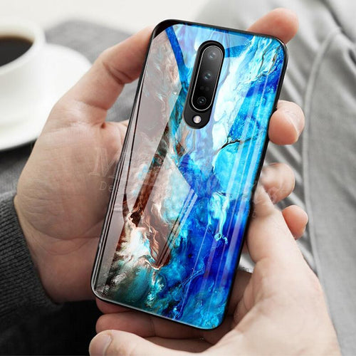 OnePlus 7 Pro Cover Soothing Sea Pattern Back Case