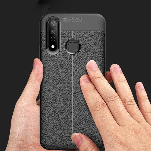 Vivo Z1 Pro Auto Focus Leather Texture Case