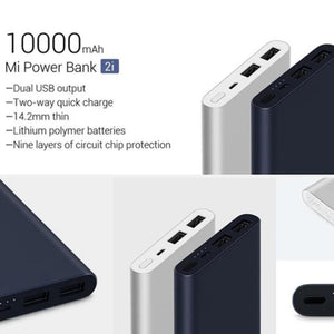 MK ® Mi 10000mAh Power Bank 2i With Dual USB Output