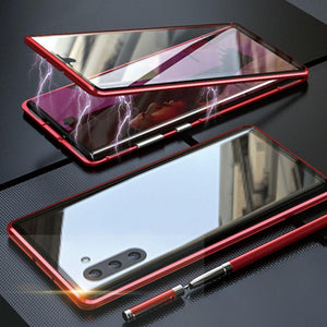 Galaxy Note 10 / Note 10 Plus  Electronic Auto-Fit (Front+ Back) Glass Magnetic Case