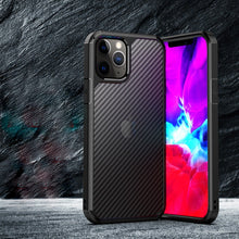 Load image into Gallery viewer, iPhone 12 Opaque Matte Carbon Fiber TPU Armor Case