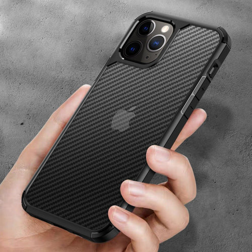 iPhone 12 Mini Opaque Matte Carbon Fiber TPU Armor Case