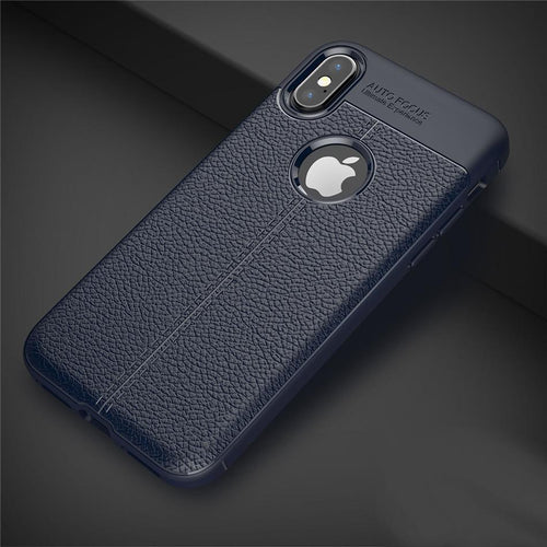 iPhone X Auto Focus Leather Texture Case