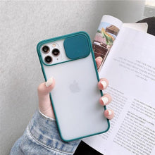 Load image into Gallery viewer, iPhone 12 Pro Max Camera Lens Slide Protection Matte Case