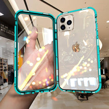 Load image into Gallery viewer, iPhone 11 Electronic Auto-Fit (Front+ Back) Glass Magnetic Case