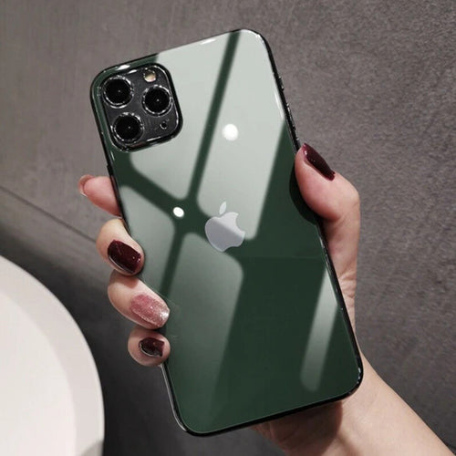iPhone 11 Pro Cover Precise Cut-out Matte Finish Back Tempered Glass