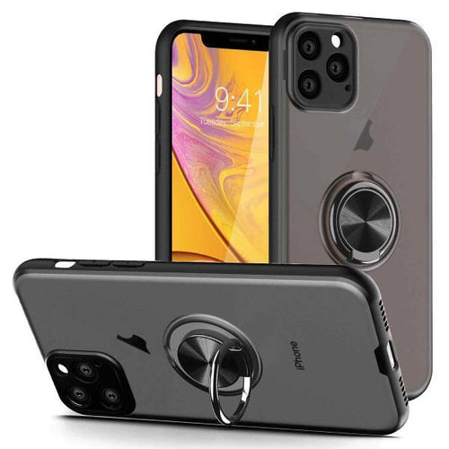 iPhone 11 Series Shockproof Translucent Ring Case