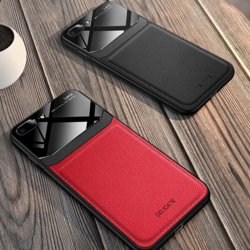 iPhone 7 Plus Sleek Slim Leather Glass Case