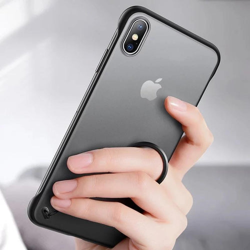 iPhone X Luxury Frameless Transparent Case