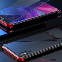 Load image into Gallery viewer, iPhone XS Frameless Auto-Fit (Front+ Back) Magnetic Glass Case