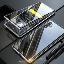 Load image into Gallery viewer, Galaxy Note 10 / Note 10 Plus  Electronic Auto-Fit (Front+ Back) Glass Magnetic Case