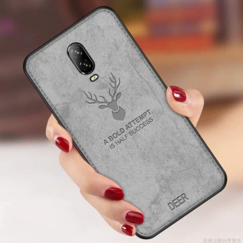 OnePlus 6T Deer Pattern Hand-Stitched Water-proof Case
