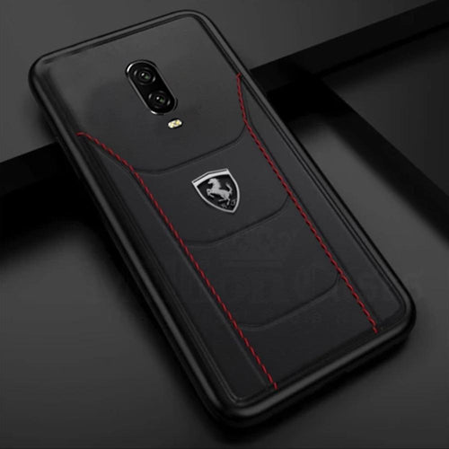 Ferrari Oneplus 7 Pro Cover Genuine Leather Crafted Limited Edition Case
