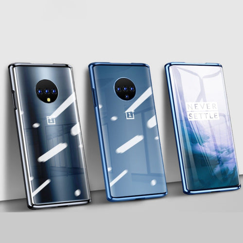 OnePlus 7T Cover Electronic Auto-Fit (Front+ Back) Glass Magnetic Case