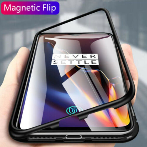 Oneplus 7T Cover Electronic Auto-Fit Magnetic Transparent Glass Case