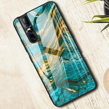 Load image into Gallery viewer, Vivo V15 Soothing Sea Pattern Marble Glass Back Case