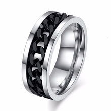 Load image into Gallery viewer, Chain Spinner Ring - Black