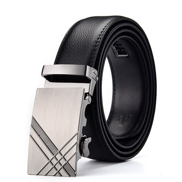 Frost Black Leather Belt - Crossroad